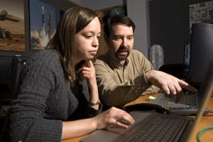 Jim Bell Working with Cornell Graduate Student Melissa Rice