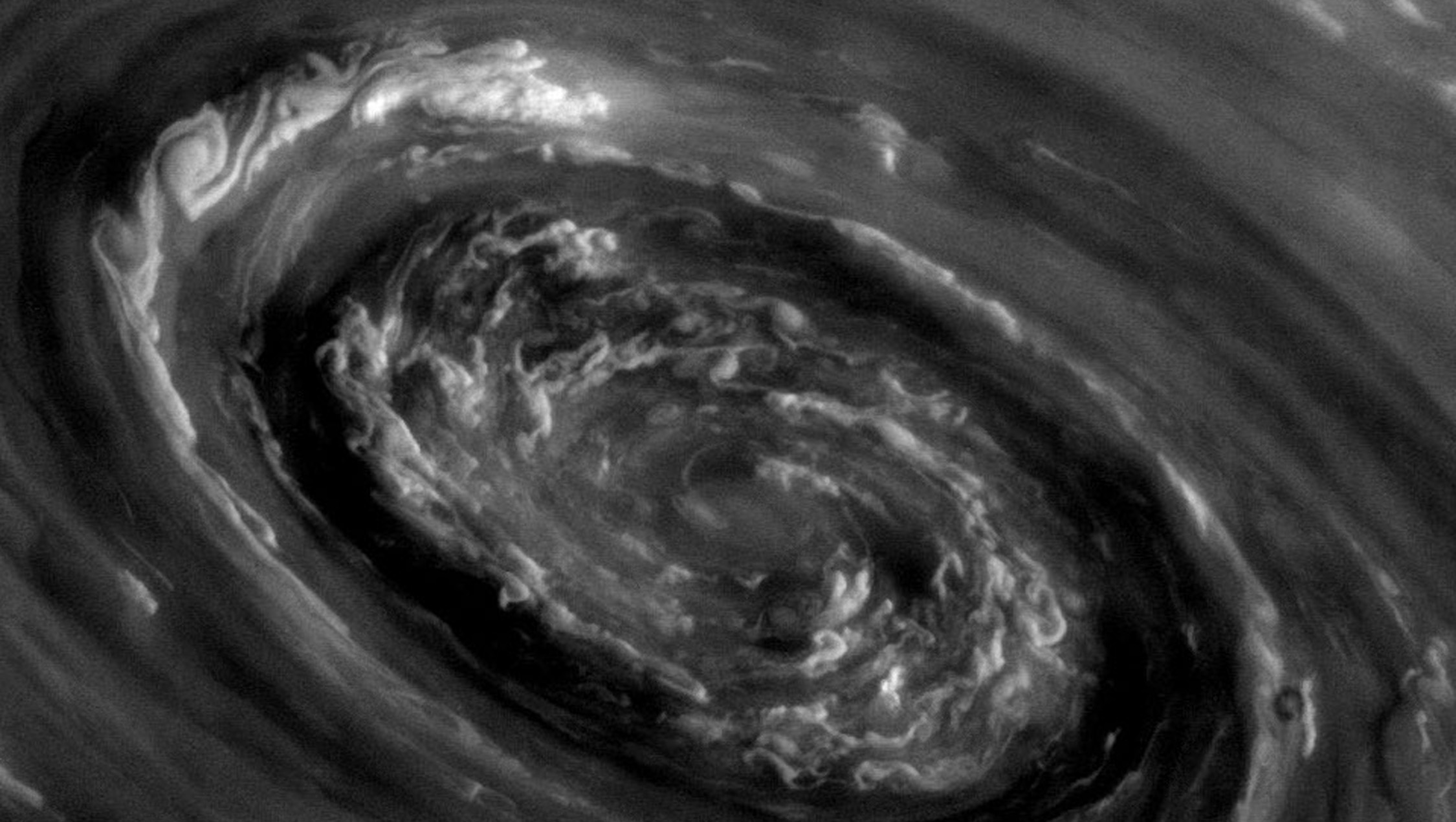 Background: Cassini Saturn Vortex